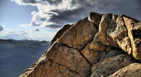 granit: Granit Rocks. Rocky Mountains National Park, Colorado, USA. HDR Photo