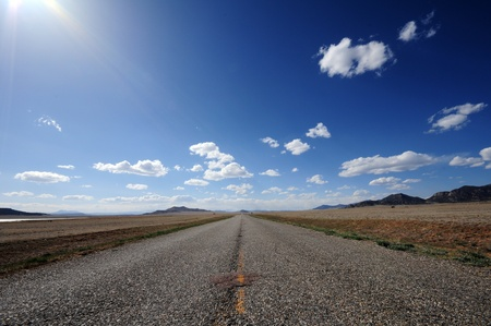 plains: Colorado Road-Highway. Colorado Plains Around Stock Photo
