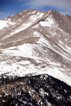 Winter in Colorado Rocky Mountains National Park. Rocky Summit - Vertical Photo Stock Photo - 13243183