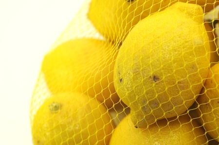 Fresh Lemon Fruits  White Separated Background