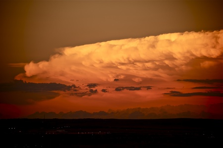 Storm Cloud in Sunset  Large Storm Clouds Above Colorado Springs, CO USA  photo