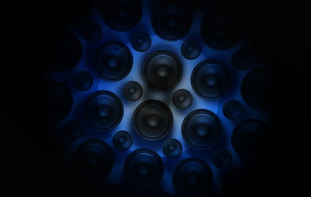 Speakers Spot  Blue Light Spot on Speakers  Sound and Music Theme