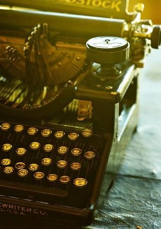 Old Vintage Typewriter - Vertical Photo. Redakční