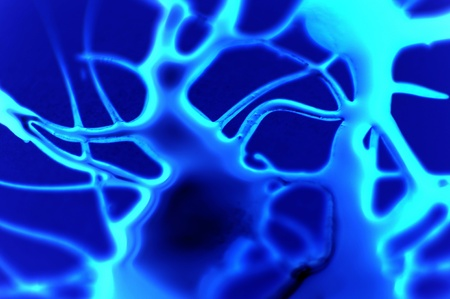 Fluo Blue 유기 액체. 추상 유기 액체입니다.