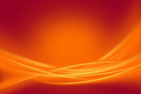 Glowing Orange Rays - Orange Glowing Wavy Ornaments. Maroon Background. Horizontal Raster Background. Stock Photo - 13238248