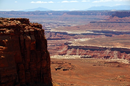 mesas: Canyonlands National Park, Utah, USA  Carved Out of Vast Sedimentary Rock Deposits  Canyonlands Mesas  Stock Photo