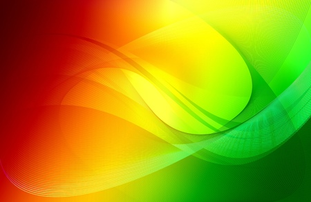 Cool Colorful Wavy Background Design  From Green to Dark Red Colors  Stock Photo - 13242274