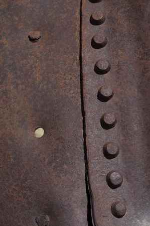 corroded: Corroded Metal Background - Metal Texture. Old Rivets. Stock Photo