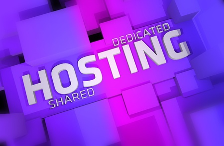 Violet-Pinky Hosting Theme  Dedicated and Shared Hosting 3D Render illustration  Top View