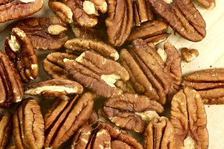 ピーカン - マクロ写真ペカンの新鮮な有機食品写真コレクション