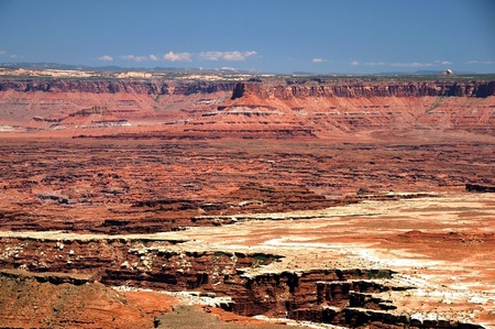 canyonland: Canyonlands Landscape. Canyonland National Park in the Utah State. USA. Panoramic Photo. Stock Photo
