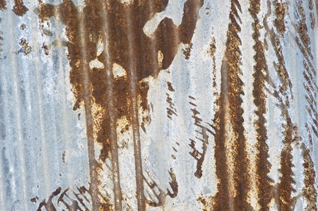 Old Folded Metal Sheet. Corroded Metal Sheet Background. Stock Photo - 13243305