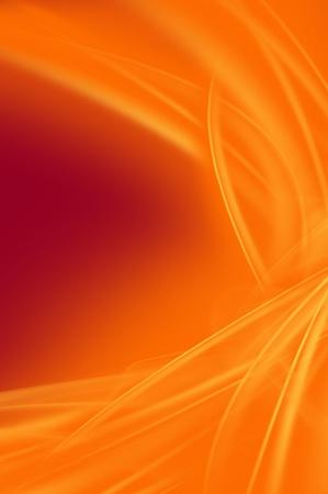 illustration cool: Vertical Orange Background Raster Illustration. Cool Glowing Orange Rays on Dark Red Background.