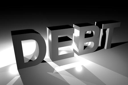 Debt 3D Illustration  Dark Debt Theme 3D Rendered  Public Debt Illustration  illustration