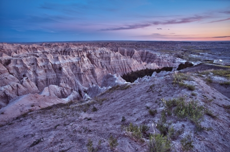 HDR Badlands Scenic Landscape. Badlands HDR Sunset. Nature HDR Photo Collection. photo