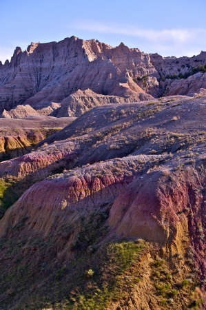 Badlands Pinnacles and Buttes - Badlands National Park, South Dakota, USA. Nature Photo Collection. US National Parks Collection. Vertical Photography photo