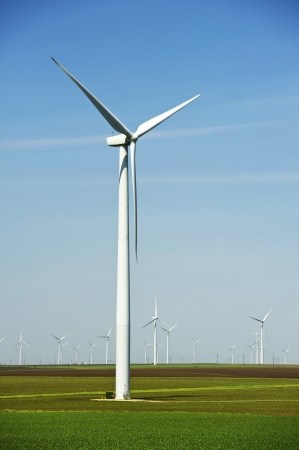 american midwest: Large Wind Turbines Vertical Photography. American Midwest Landscape