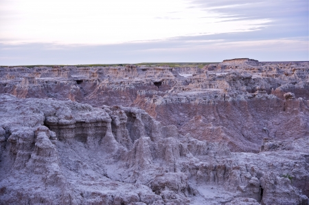 Raw Badlands Landscape - Badlands National Park, USA. U.S. National Parks Photo Collection. photo