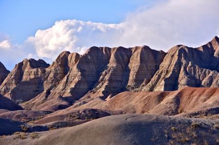 Badlands Sandy Peaks in the Badlands National Park, South Dakota, USA. Nature Photo Collection photo