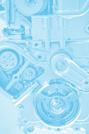 explosion engine: Technology Blue Background - Engine Elements  Bluish Background. Stock Photo