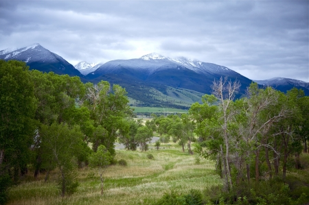 Livingston Montana Landscape. Early Summer - Snowy Peaks. Montana Photo Collection photo