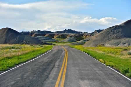Loop Road - Badlands National Park, USA. Summer in the Badlands. photo