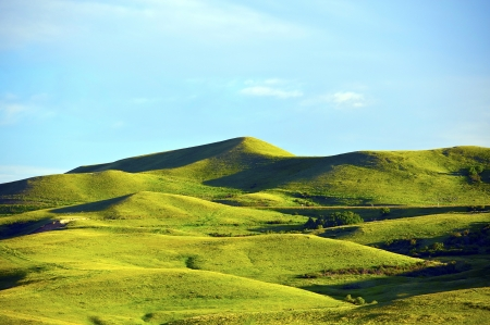 wyoming: Wyoming Landscape. Green Hills of Wyoming, USA. Near Yellowstone National Park. Nature Photo Collection