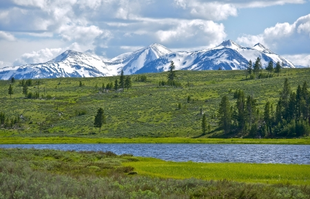 quadrant: Northern Yellowstone Landscape. Gallatin Mountains Range. Quadrant Mountain. Wyoming, USA. Nature Photo Collection.