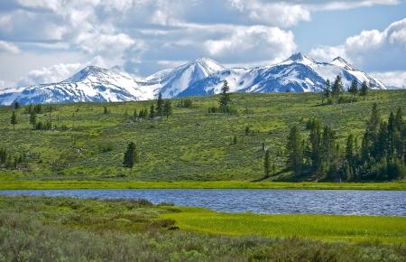 wyoming: Northern Yellowstone Landscape. Gallatin Mountains Range. Quadrant Mountain. Wyoming, USA. Nature Photo Collection.
