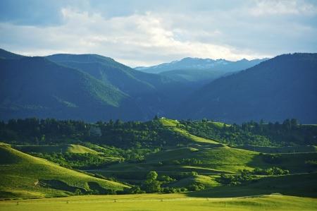 montana: Beautiful Montana Landscape - American Rocky Mountains near Sheridan, Montana, USA.  Stock Photo