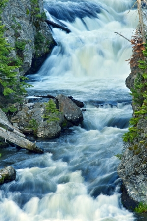kepler: Waterfalls - Kepler Cascades in the Yellowstone National Park, Wyoming, USA.