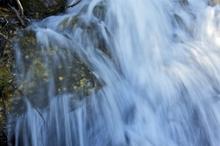 rapidly: Waterfalls Closeup. Rapidly Running mountain Stream Water. Nature Photo Collection.