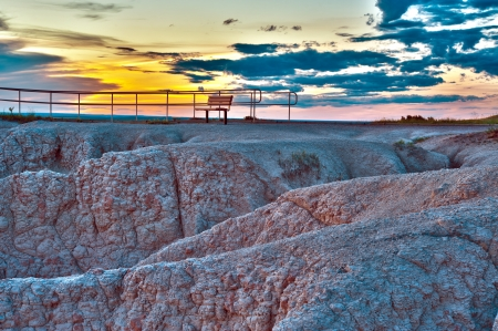 The View Point HDR - Badlands National Park, USA. photo
