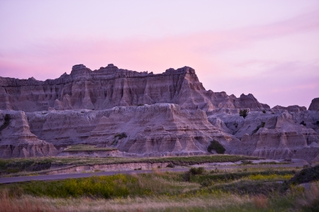 Sunset in the Badlands National Park. Late Spring in the Badlands. nature Photo Collection. photo