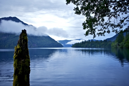 crescent lake: The Lake. Scenic Lake Photo. Nature Photo Collection Stock Photo