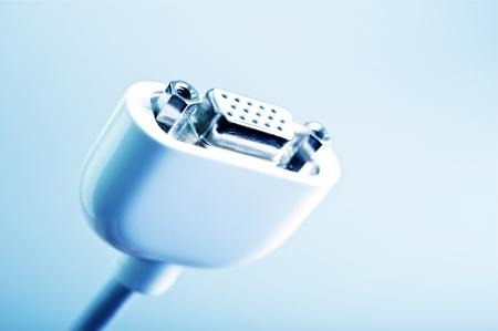 vga: Conector VGA - Blanco Cable VGA primer. Computer Technology colecci�n de fotos.