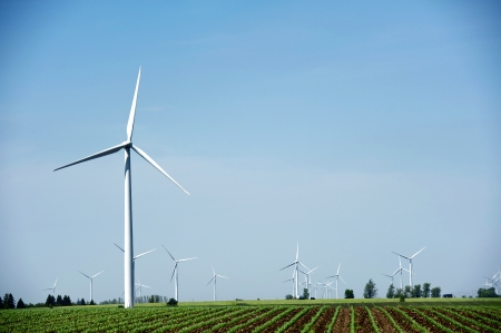 dexter: Windmills - Wind Turbines Landscape. Natural Energy Sources Theme. Technology Photography Collection.