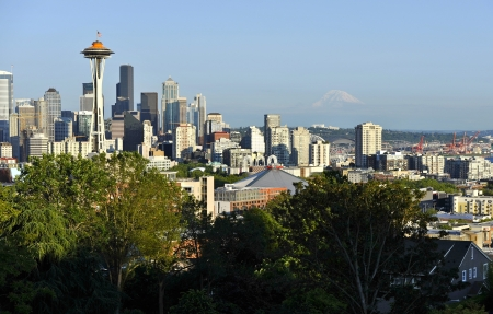 seattle skyline: Seattle USA - Pacific Northwest. Seattle Downtown. American Cities Photography Collection. Stock Photo