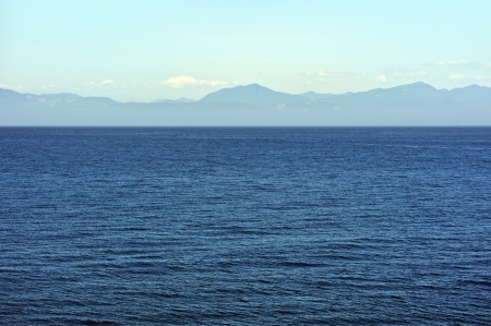 Ocean Panorama - Pacific Ocean and British Columbia, Canada Shore. Nature Photo Collection. photo
