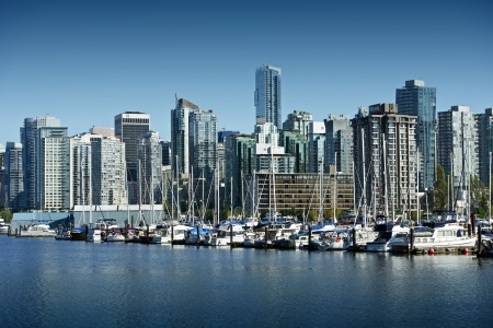 Vancouver Cityscape. British Columbia, Canada. Downtown Vancouver in Summer Clear Day. Cities Photo Collection.