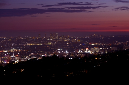 Late Sunset Panorama. California Photography Collection. photo