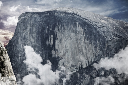 Half Dome is a Granite Dome in Yosemite National Park, California, USA. Sierra Mountains. photo
