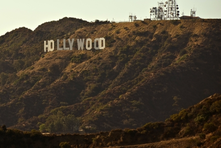 hollywood   california: Hollywood Sign - Hollywood Hills, California, USA. California Photo Collection Editorial