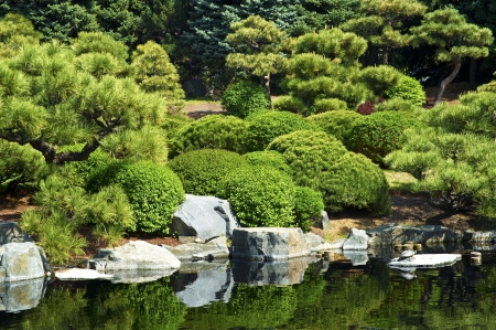 fish exhibition: Japanese Garden with Pond.