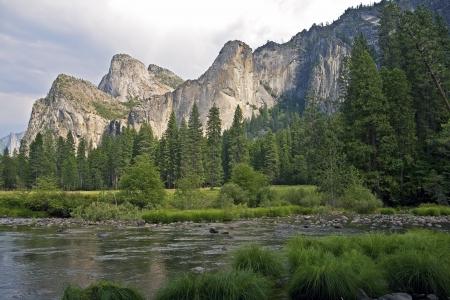 merced: Yosemite Landscape. Yosemite National Park, California, USA.  Merced River. Nature Photo Collection.
