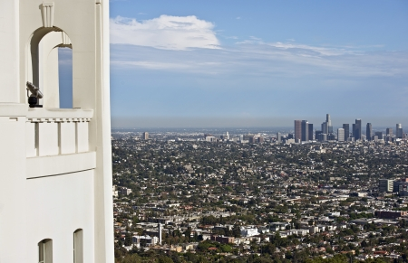 Los Angeles Overlook - Griffith Observatory Viewpoint  Los Angeles, California, USA  Summer Day  California Photography Collection  photo