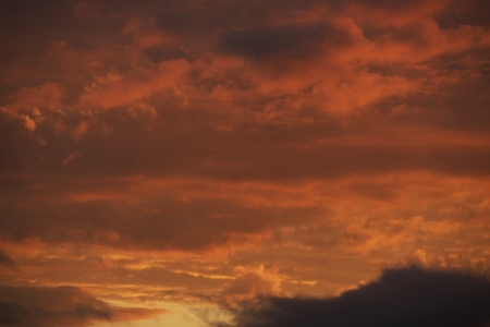 above the clouds: Sunset Red Sky Photo Background.