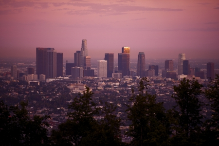 Los Angeles, California, USA  Los Angeles Skyline in Sunset  American Cities Photo Collection  photo