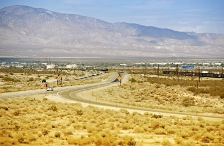 mojave: Mojave California and HWY 14. Mojave (USA) During Hot Summer Day. California Photography Collection.