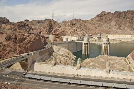 previously: Hoover Dam - Previously Known as Boulder Dam, is a Concrete Arch-Gravity Dam in the Black Canyon of the Colorado River. Hoover Dam, Nevada  Arizona. Technology Photography Collection Editorial